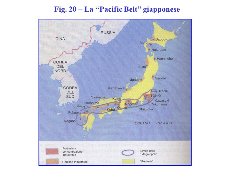 Fig. 20 – La Pacific Belt giapponese