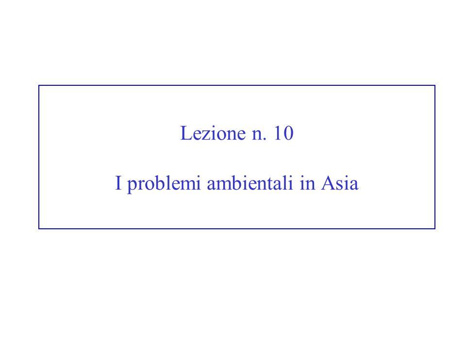 Lezione n. 10 I problemi ambientali in Asia
