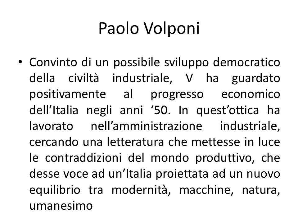 La sua opera presenta la parabola delle speranze legate alle trasformazioni dellItalia.