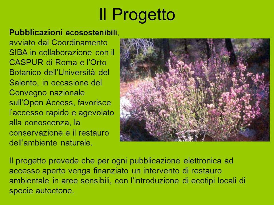 Il Progetto Pubblicazioni ecosostenibili, avviato dal Coordinamento SIBA in collaborazione con il CASPUR di Roma e lOrto Botanico dellUniversità del S