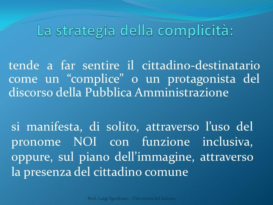 Prof.Luigi Spedicato - Università del Salento 5.