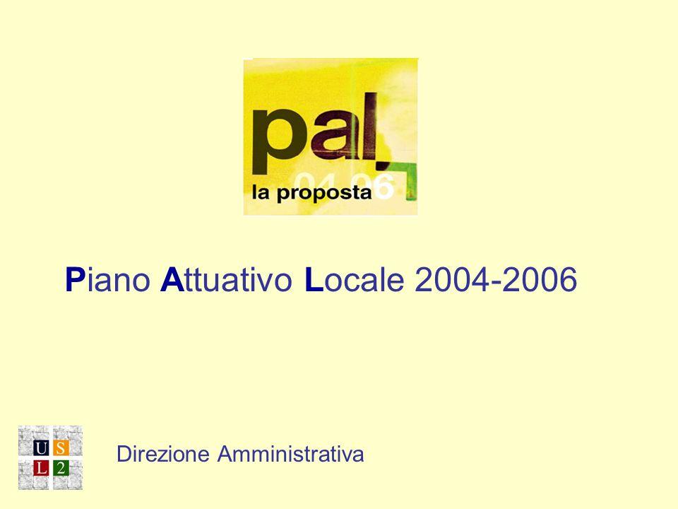 Direzione Amministrativa Piano Attuativo Locale 2004-2006 Direzione Amministrativa