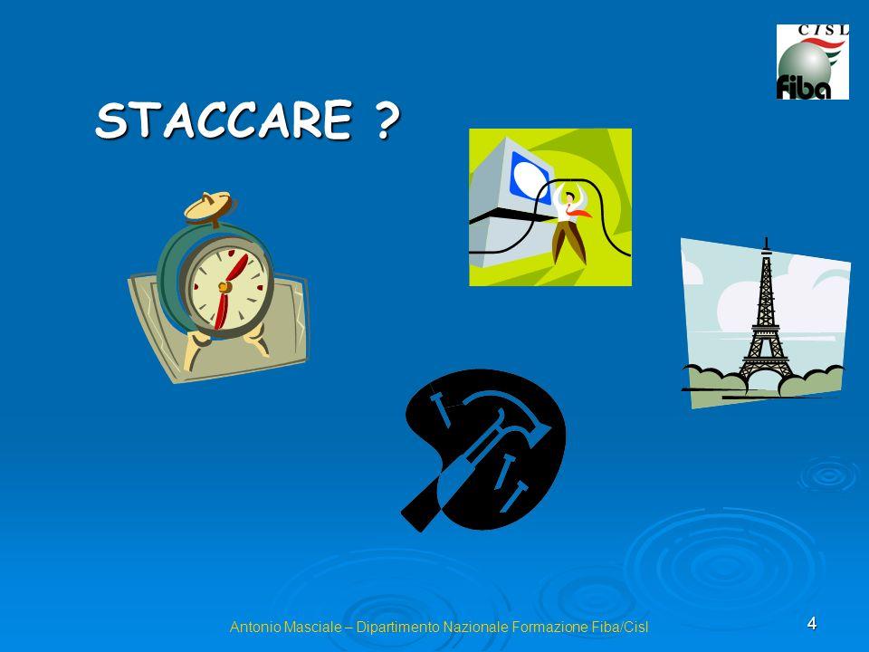 4 Antonio Masciale – Dipartimento Nazionale Formazione Fiba/Cisl STACCARE ?