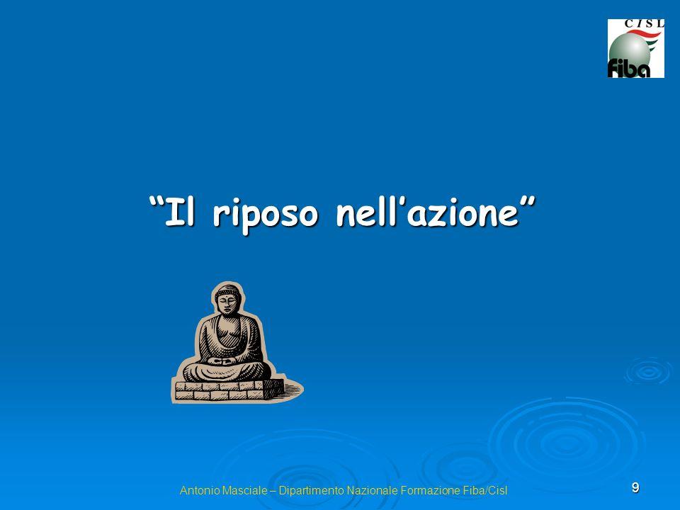 9 Antonio Masciale – Dipartimento Nazionale Formazione Fiba/Cisl Il riposo nellazione