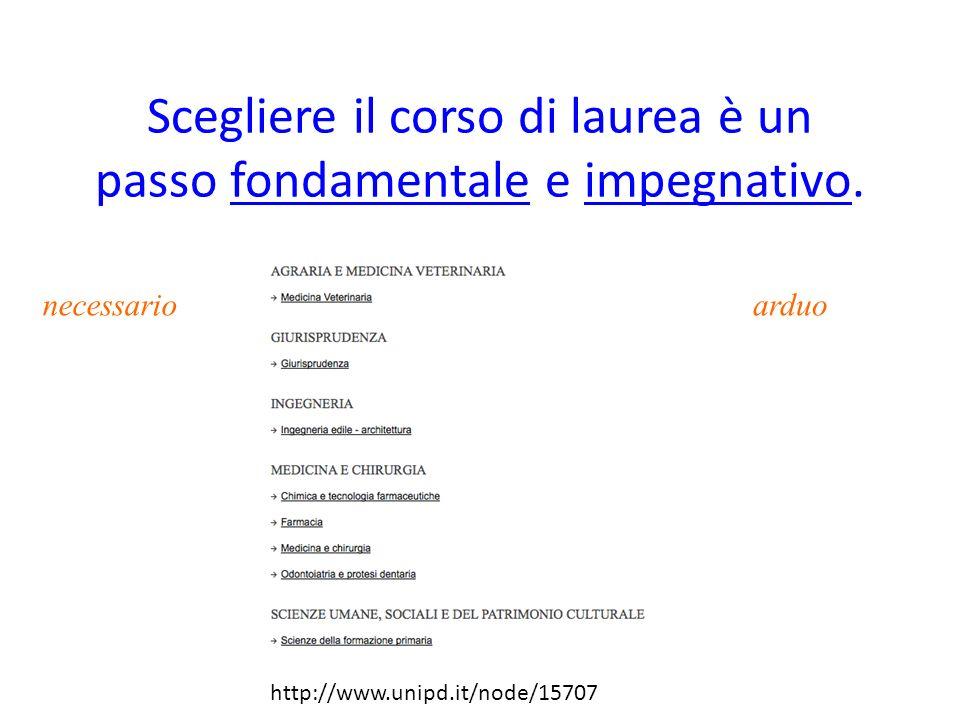 Luniversità di Padova offre iniziative per orientamenti durante il corso dellanno.