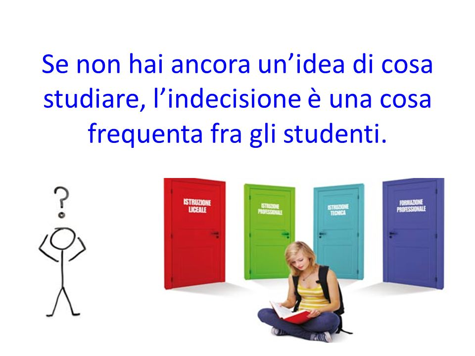 Se non hai ancora unidea di cosa studiare, lindecisione è una cosa frequenta fra gli studenti.