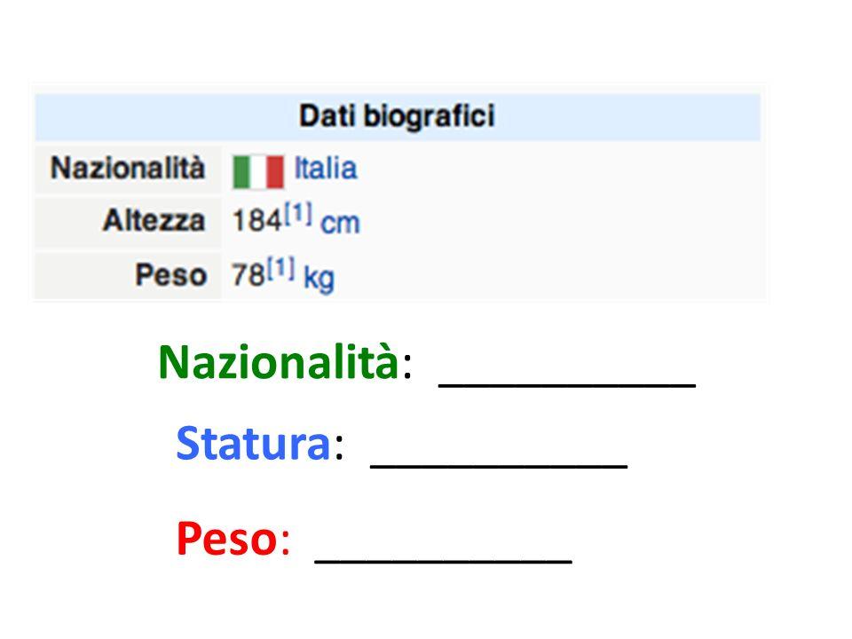 Daniele De Rossi…..30 anni Nome: ____Cognome: ___ Età: ____