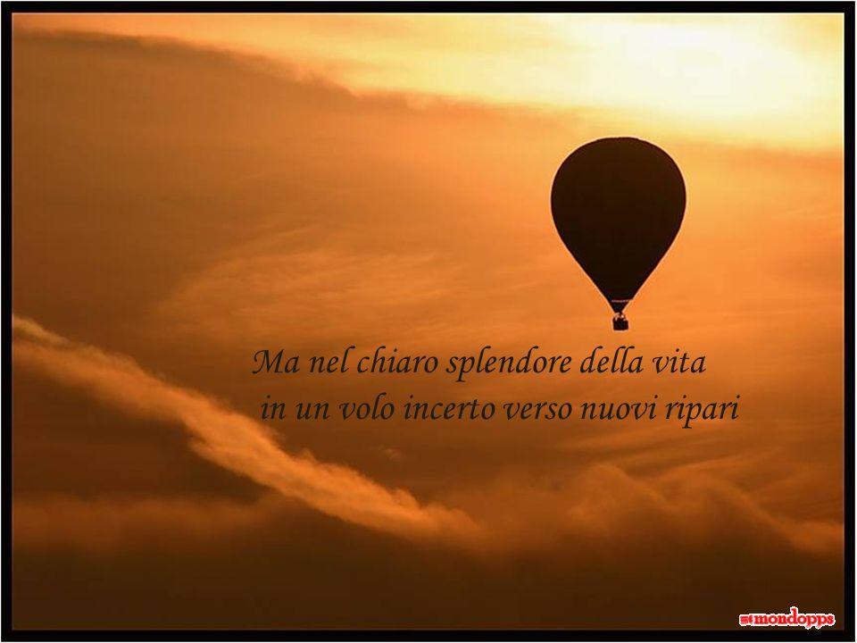 Ma nel chiaro splendore della vita in un volo incerto verso nuovi ripari