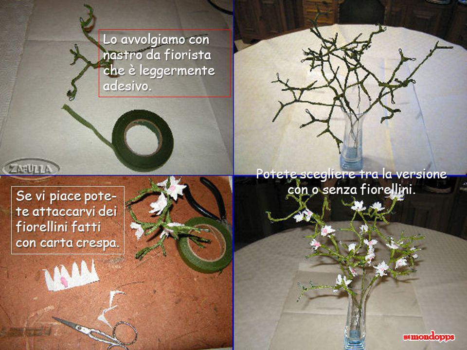Occorre: Fil di ferro, forbici, pinza-piatta, nastro- carta da fiorista Tagliamo 50-60 cm di filo di ferro Lo mettiamo doppio e cominciamo ad attorcig