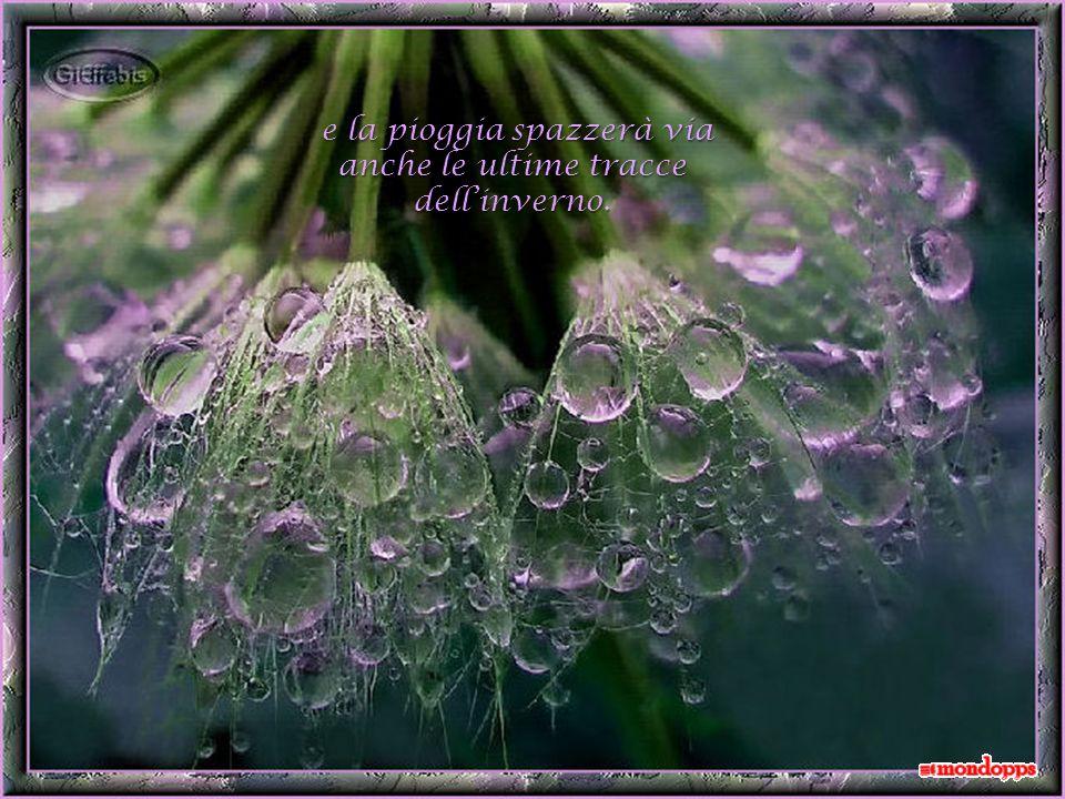 e la pioggia spazzerà via e la pioggia spazzerà via anche le ultime tracce dellinverno.