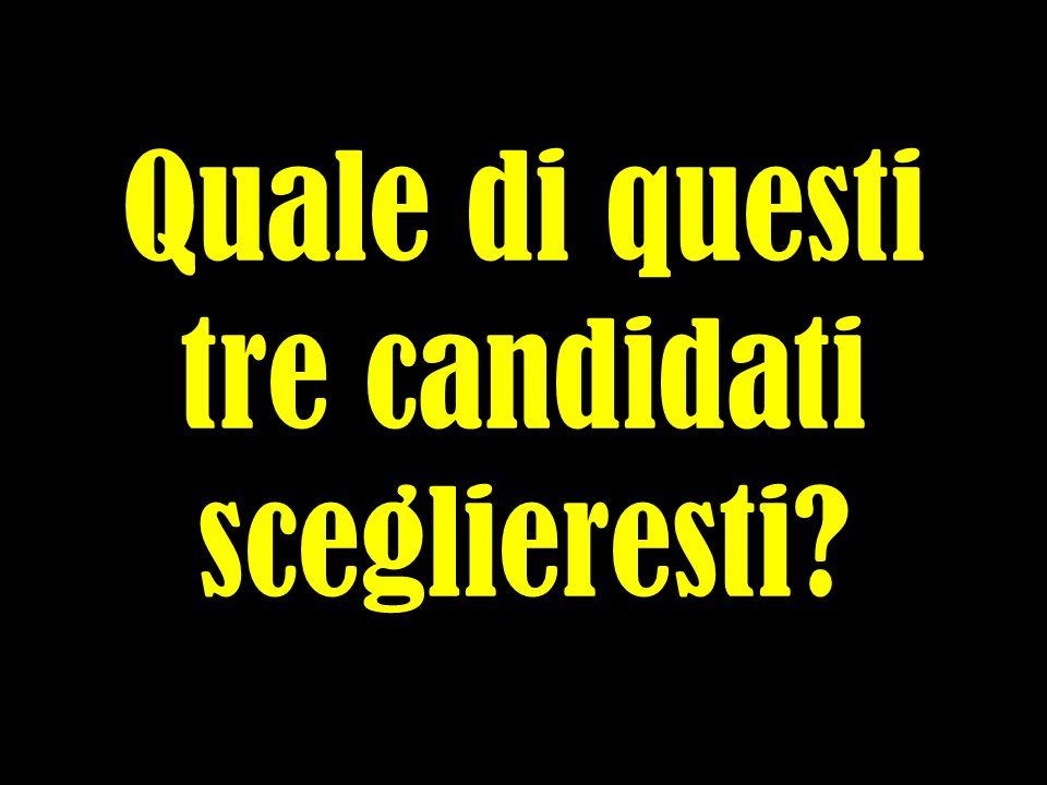 Quale di questi tre candidati sceglieresti?