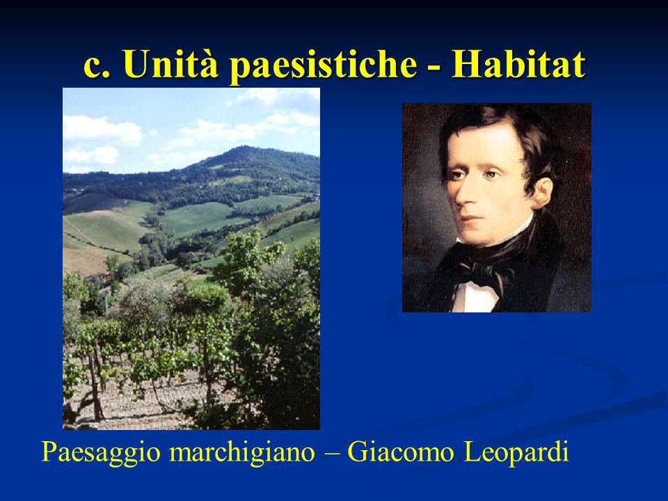 c. Unità paesistiche - Habitat Paesaggio marchigiano – Giacomo Leopardi