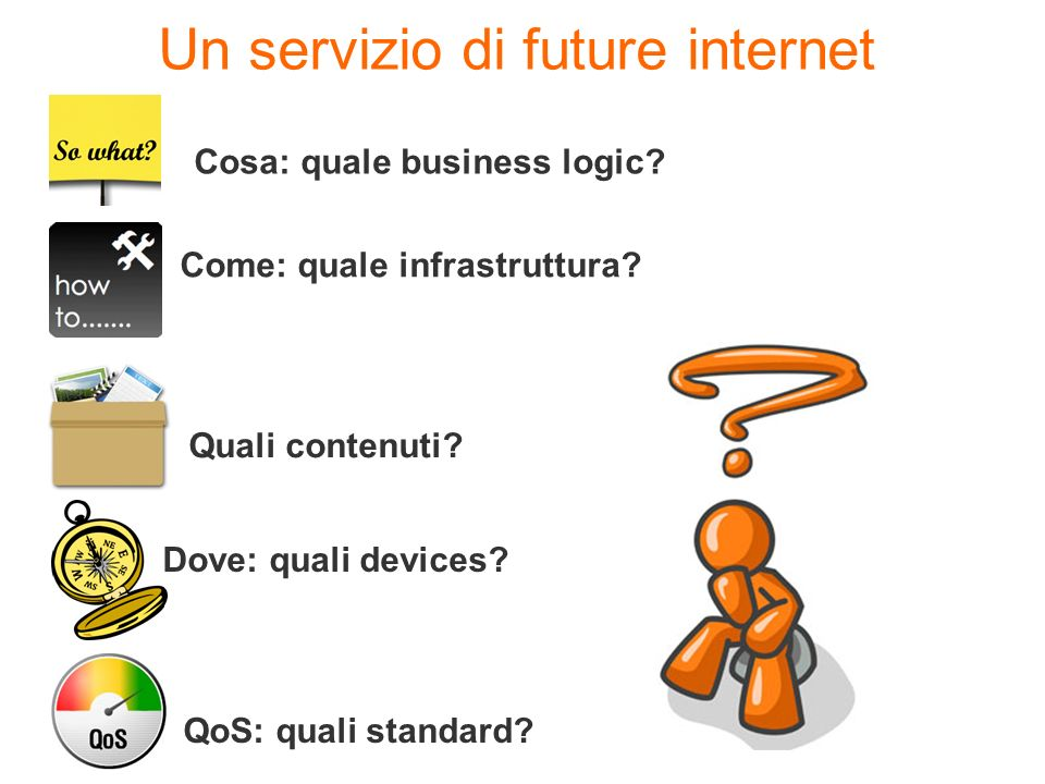 Un servizio di future internet Cosa: quale business logic.