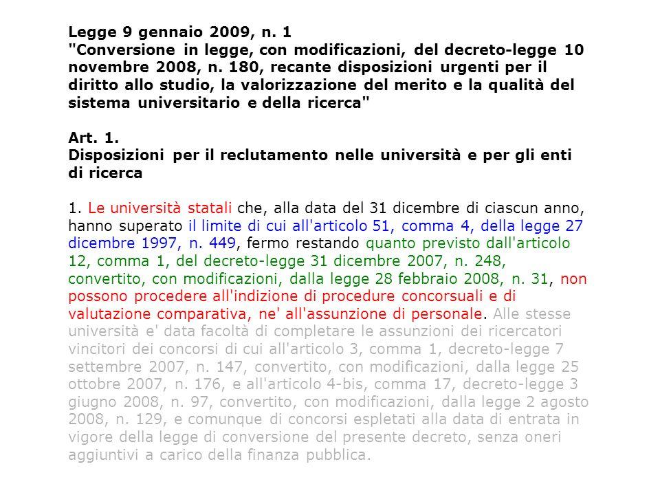 Legge 27 dicembre 1997, n.449 Misure per la stabilizzazione della finanza pubblica Art.