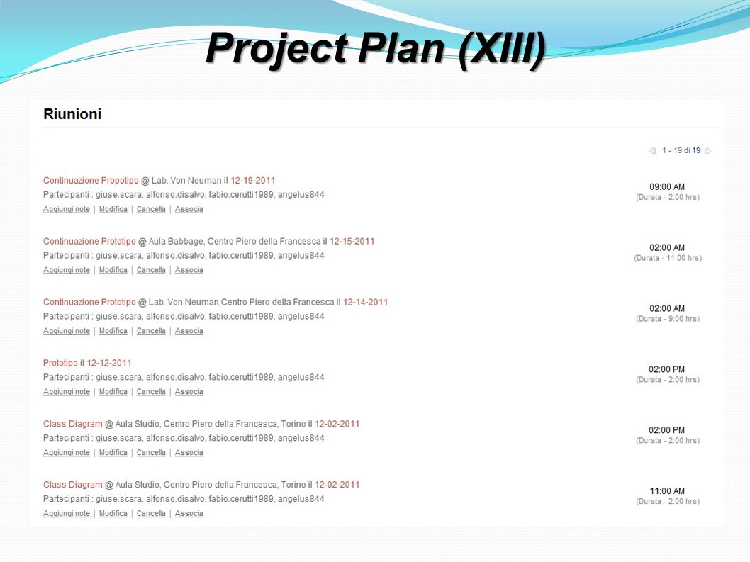 Project Plan (XIII)
