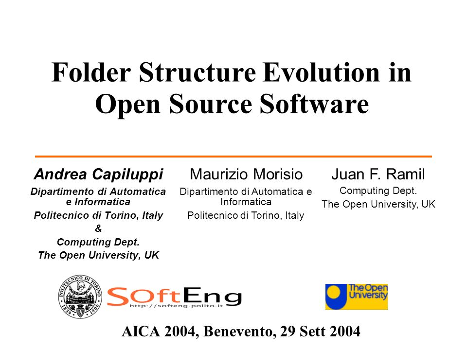 AICA 2004 22 29 Sett 2004 – Benevento Empirical Evidence Theories, Models Good Practice Conclusioni