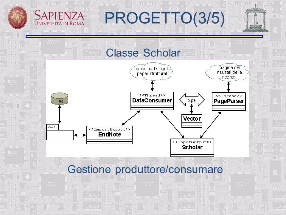 PROGETTO(3/5) Classe Scholar Gestione produttore/consumare