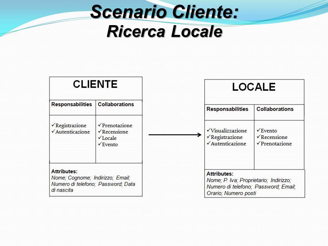 Scenario Cliente: Ricerca Locale