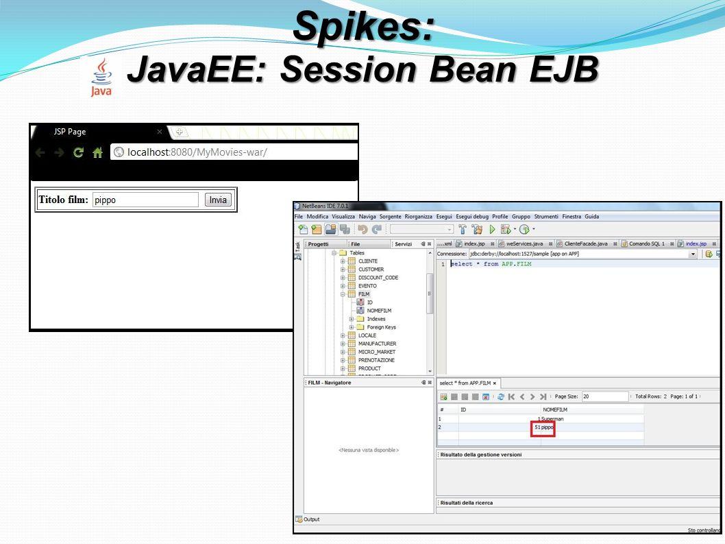 Spikes: JavaEE: Session Bean EJB