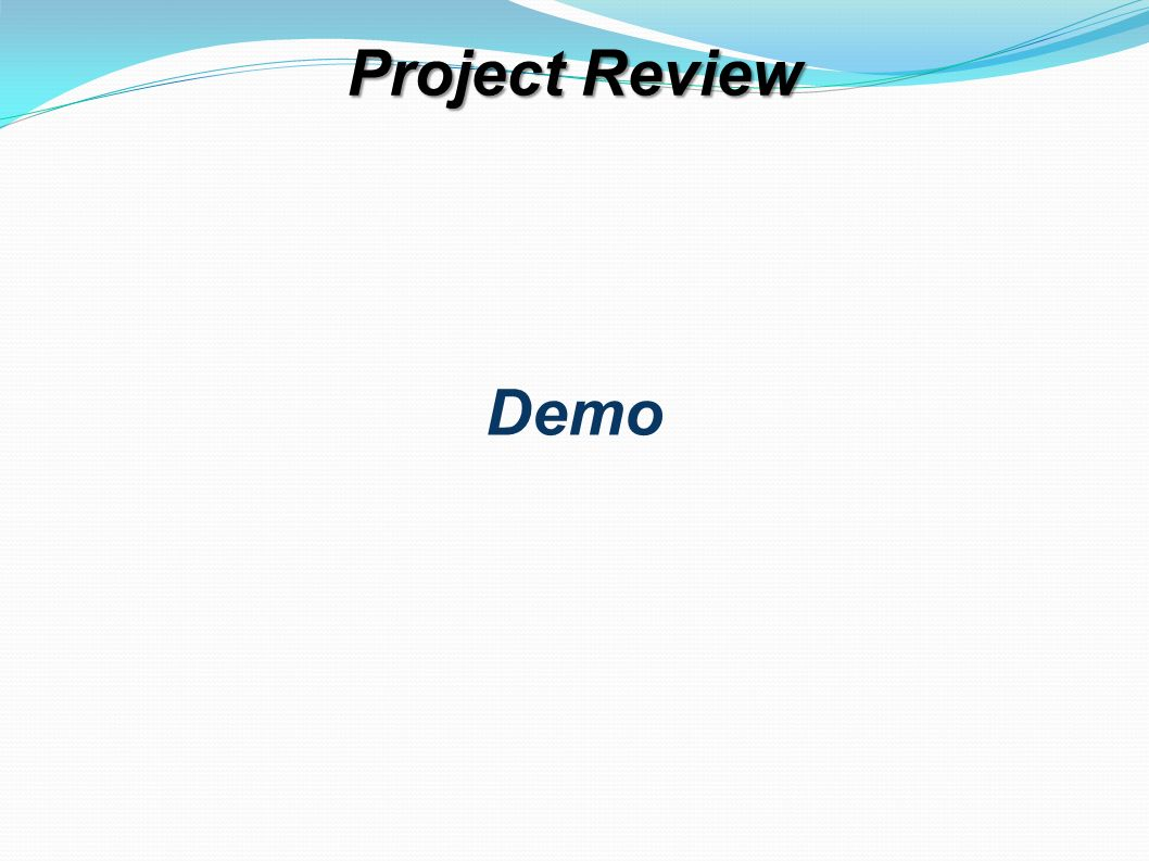 Project Review Demo