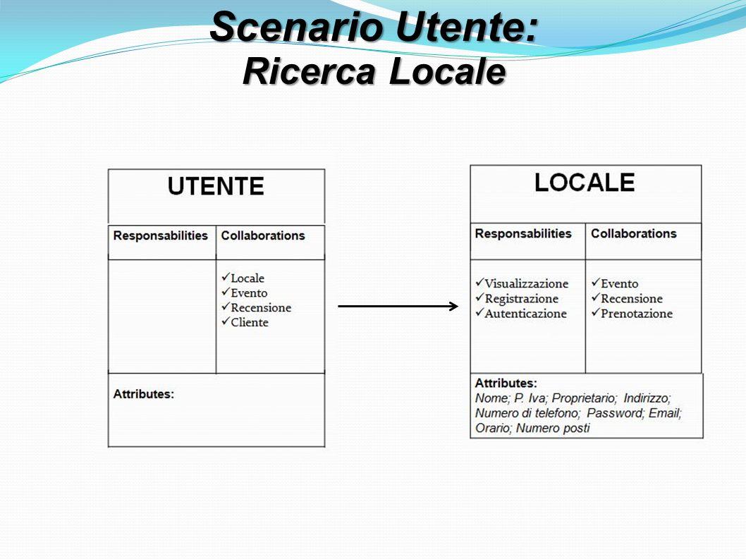 Scenario Utente: Ricerca Locale