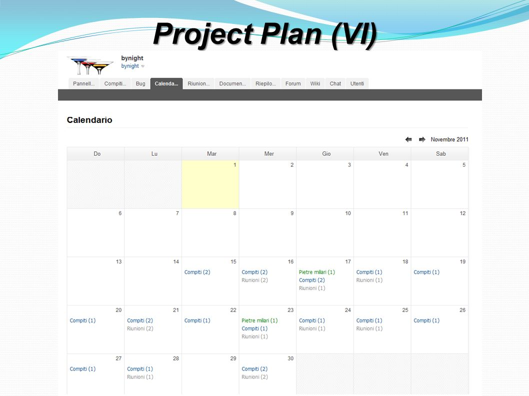 Project Plan (VI)