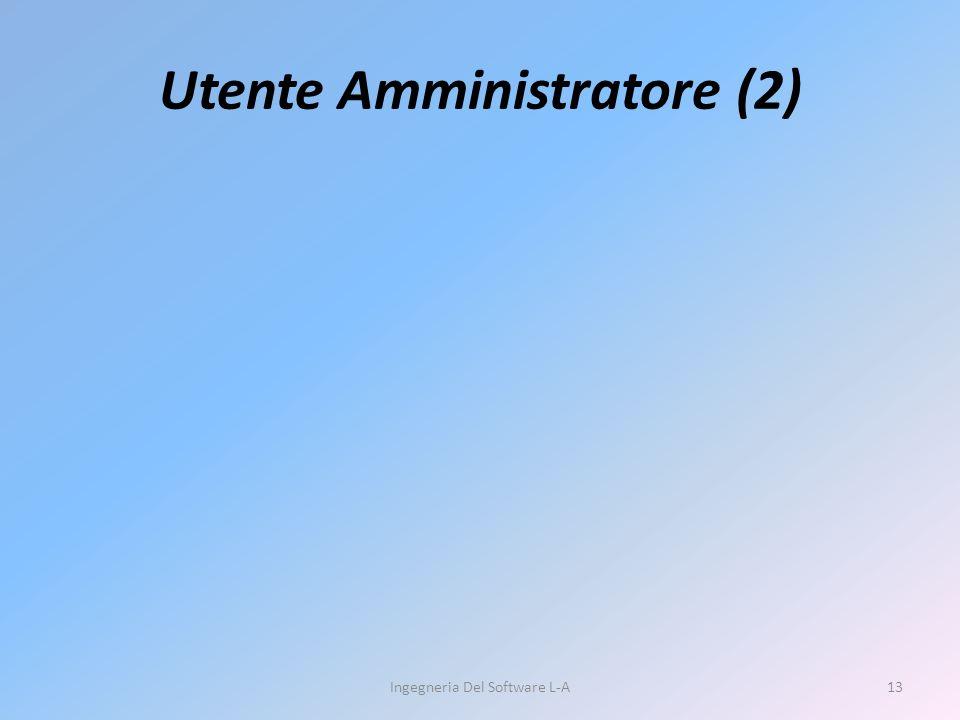 Utente Amministratore (2) Ingegneria Del Software L-A13