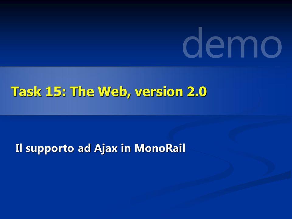 Il supporto ad Ajax in MonoRail Task 15: The Web, version 2.0