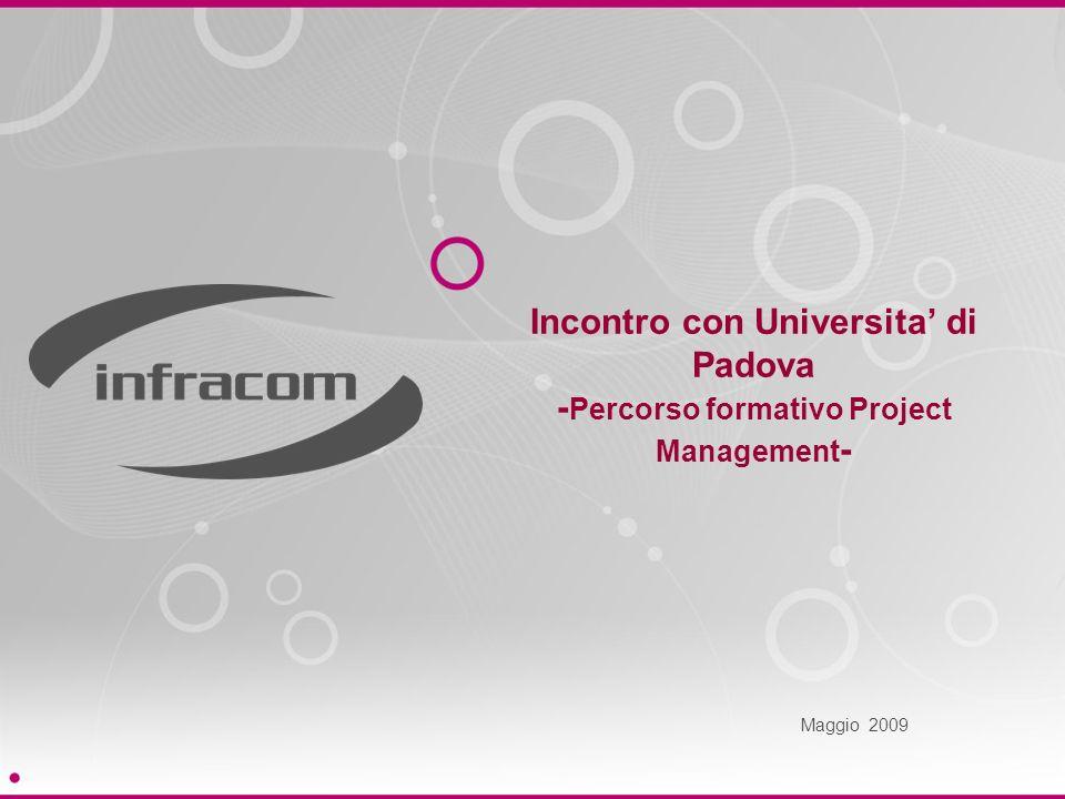 Incontro con Universita di Padova - Percorso formativo Project Management - Maggio 2009