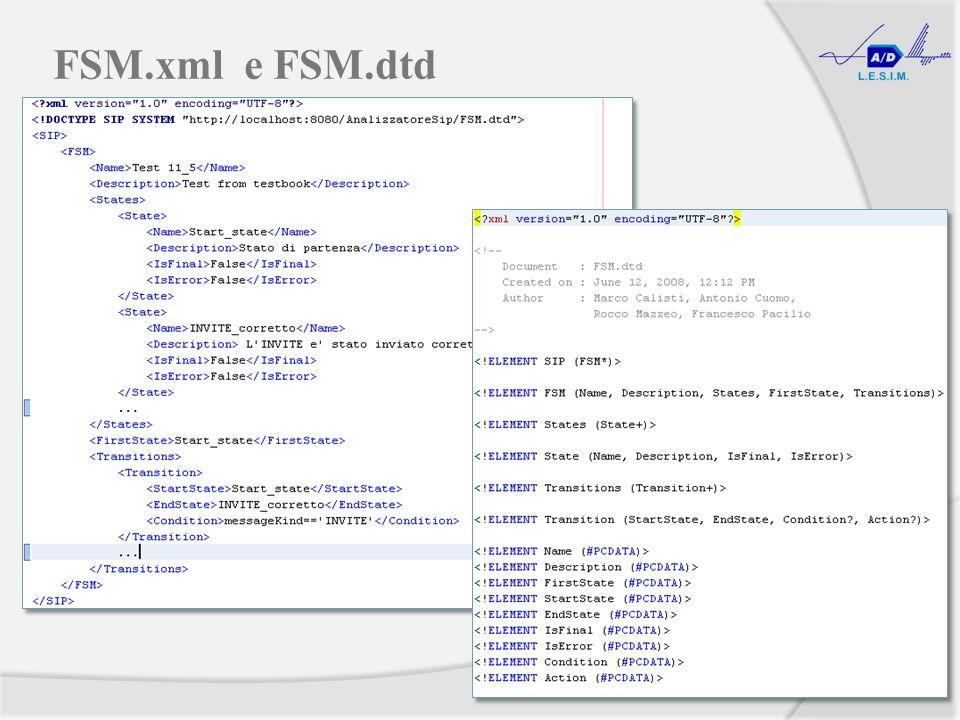 FSM.xml e FSM.dtd