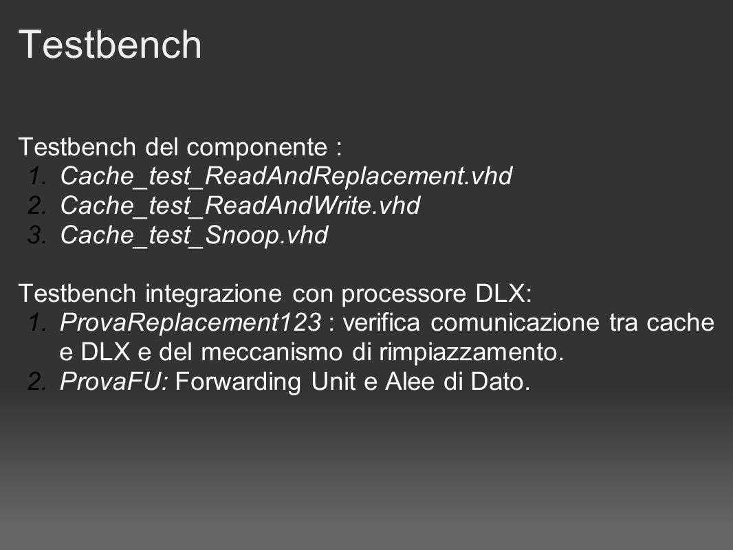 Cache_test_ReadAndReplacement.vhd TagIndexReplacement Linea invalidata (MESI_I) Fase 1: inizializzazione.