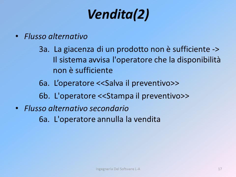Vendita(2) Flusso alternativo 3a.