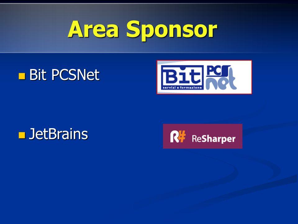 Bit PCSNet Bit PCSNet JetBrains JetBrains Area promozioni:http://dotnetmarche.org/forums/23/ShowForum.aspx Area Sponsor