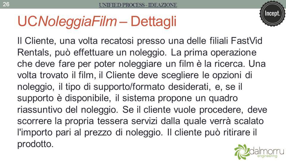 UCNoleggiaFilm – Dettagli Il Cliente, una volta recatosi presso una delle filiali FastVid Rentals, può effettuare un noleggio. La prima operazione che