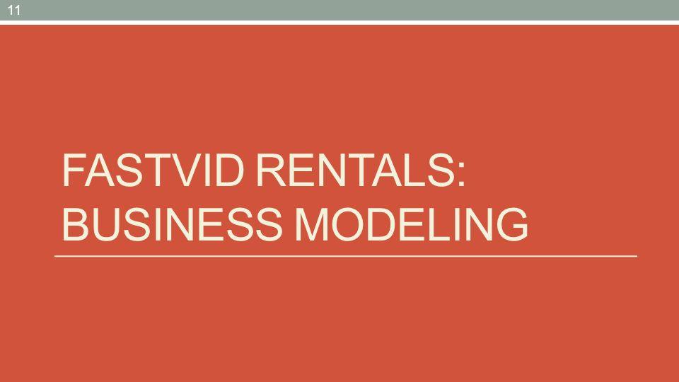 FASTVID RENTALS: BUSINESS MODELING 11