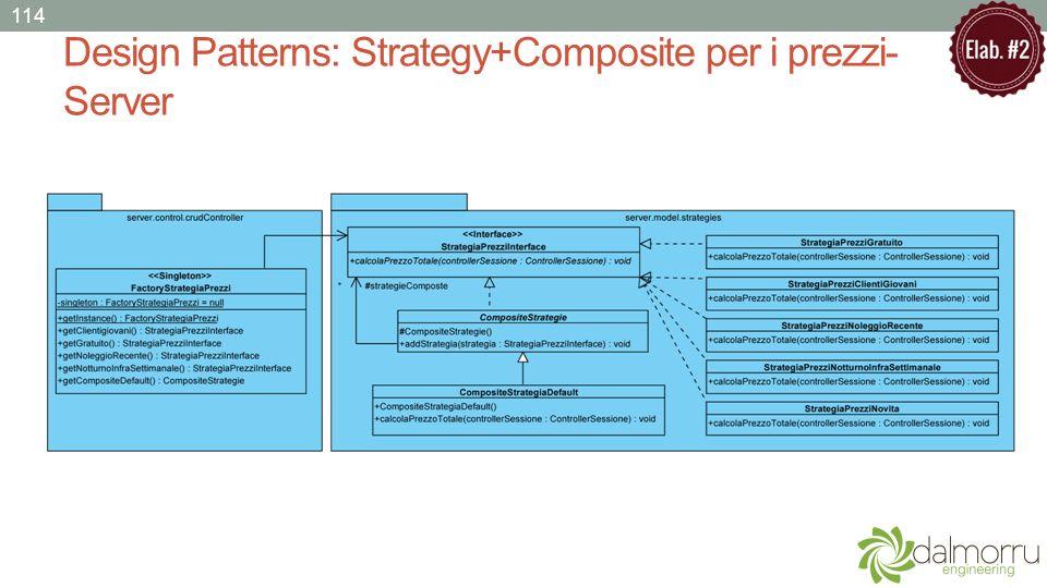 Design Patterns: Strategy+Composite per i prezzi- Server 114
