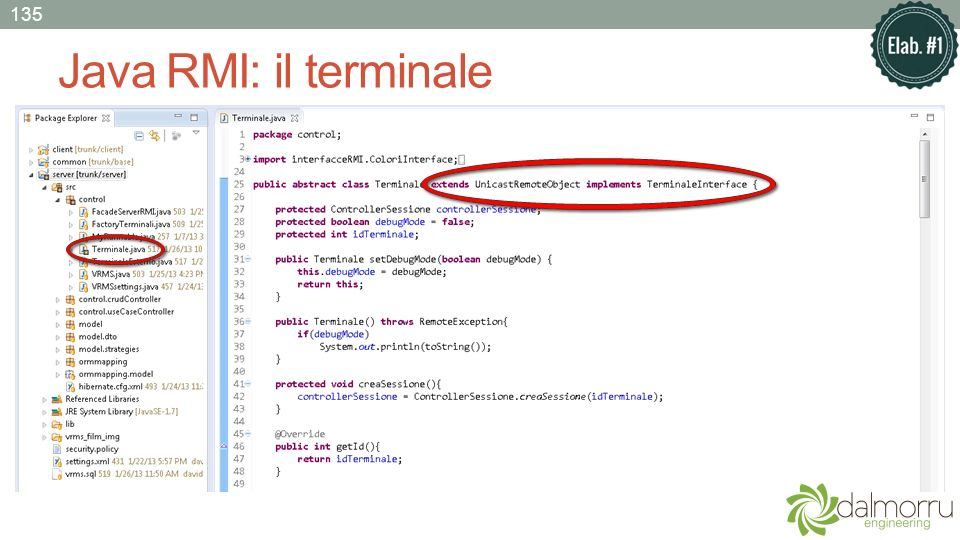 Java RMI: il terminale 135