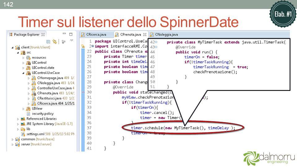 Timer sul listener dello SpinnerDate 142