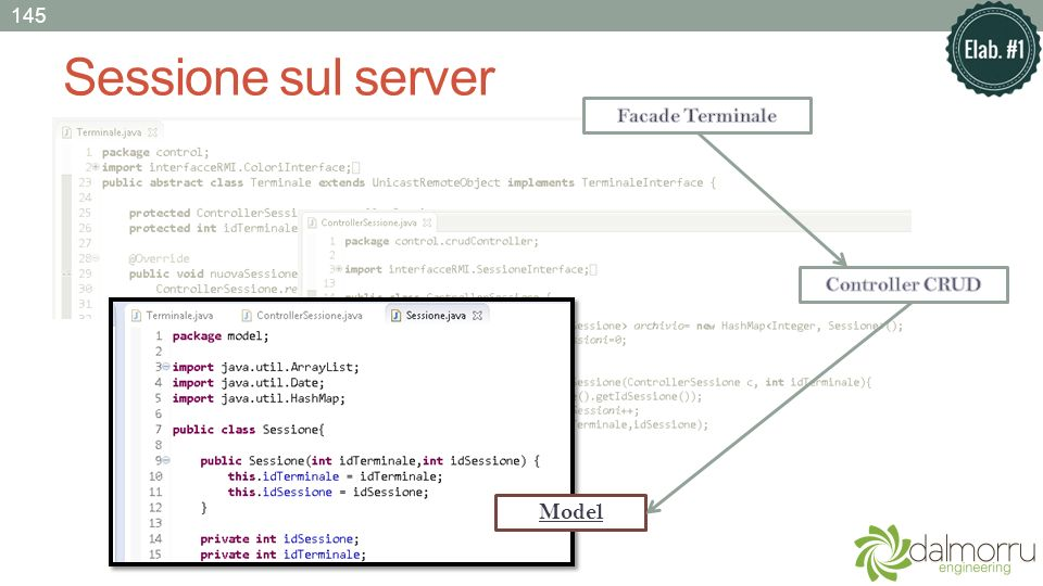 Sessione sul server Model 145