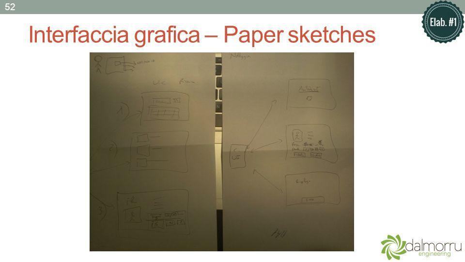 Interfaccia grafica – Paper sketches 52
