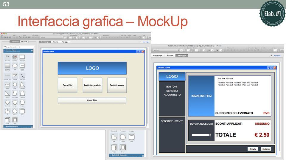 Interfaccia grafica – MockUp 53