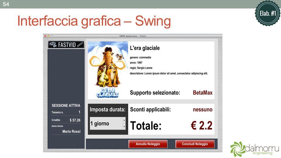 Interfaccia grafica – Swing 54