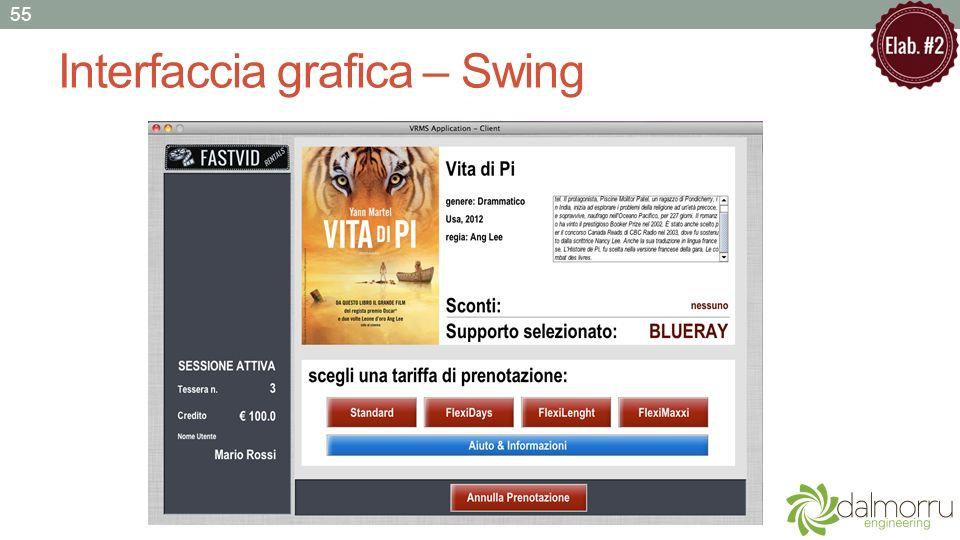 Interfaccia grafica – Swing 55