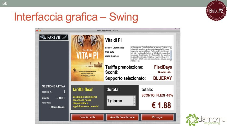 Interfaccia grafica – Swing 56
