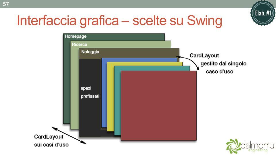 Interfaccia grafica – scelte su Swing 57
