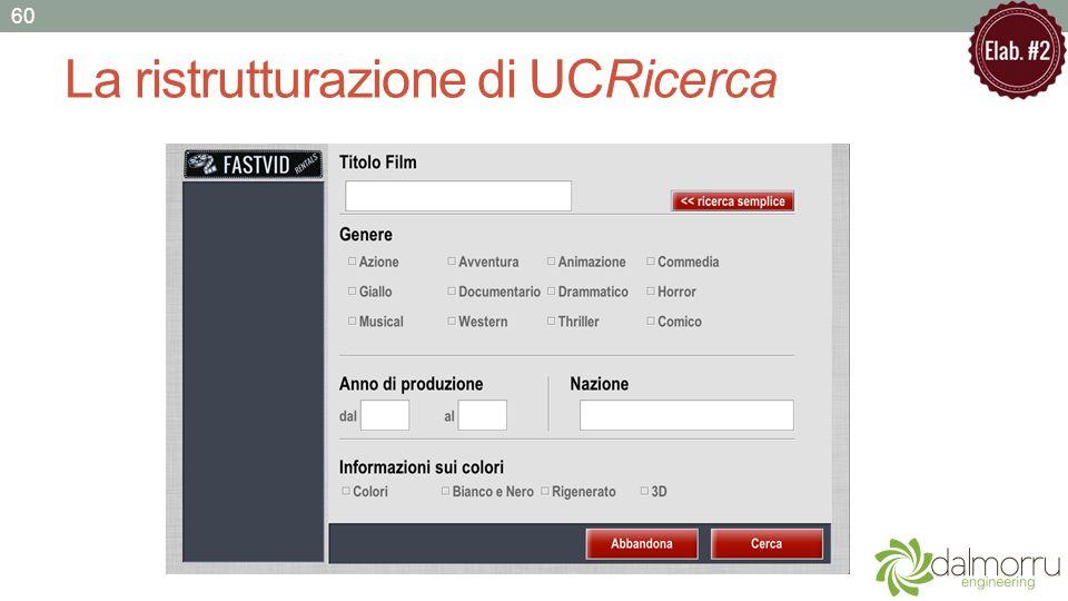 La ristrutturazione di UCRicerca 60