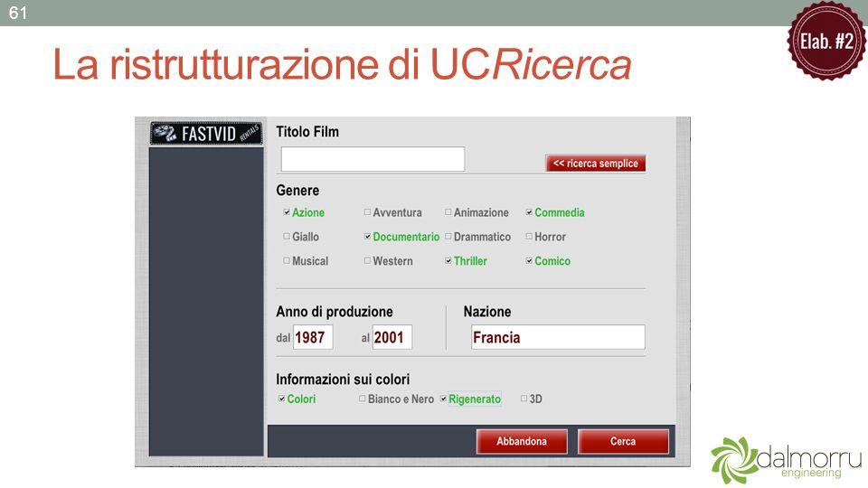 La ristrutturazione di UCRicerca 61