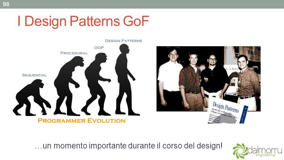 I Design Patterns GoF …un momento importante durante il corso del design! 98