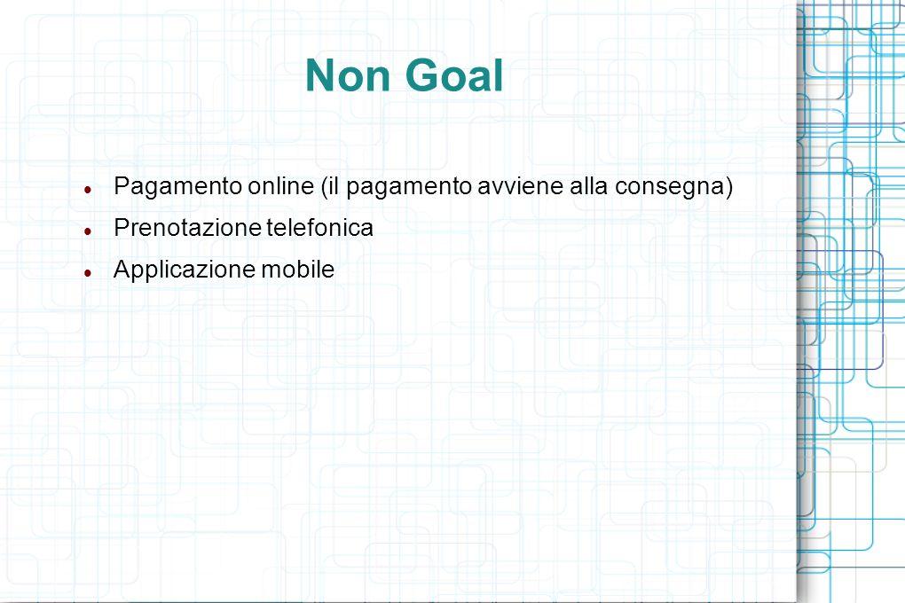 Non Goal Pagamento online (il pagamento avviene alla consegna) Prenotazione telefonica Applicazione mobile