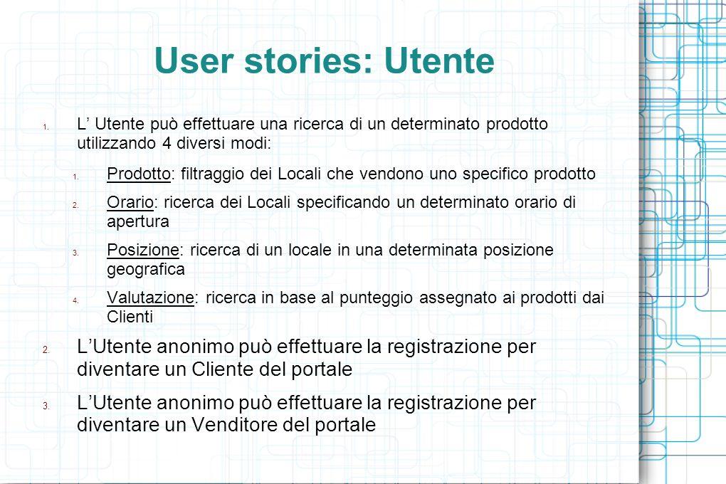 User stories: Utente 1.